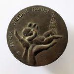 geboortepenning Floris 1975 a   brons 90mm