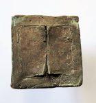 Libro  brons 70 x 70mm