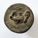 geboortepenning Saskia 1982  brons 70mm