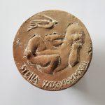 geboortepenning Stella 2013 terracotta  60mm